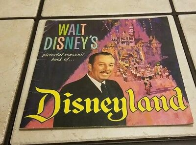1965 Disneyland Walt Disney's Guide To DISNEYLAND Very Good Condition