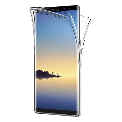 For Samsung Galaxy Note 8 Full Body 360 Silicone Gel Clear Dual Case Cover