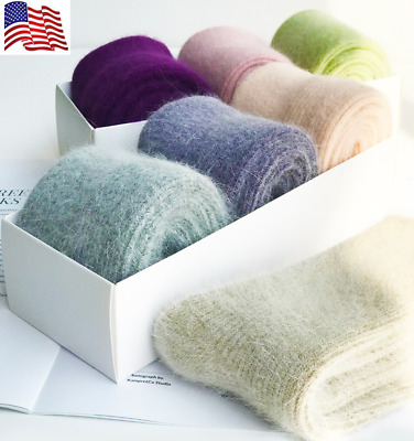 3 Pairs New Womens 100% Wool Cashmere Thick Thermal Multi-Color Winter Warm Sock