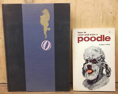 2 vintage 1950's POODLE Dog BOOKS on how to raise & train