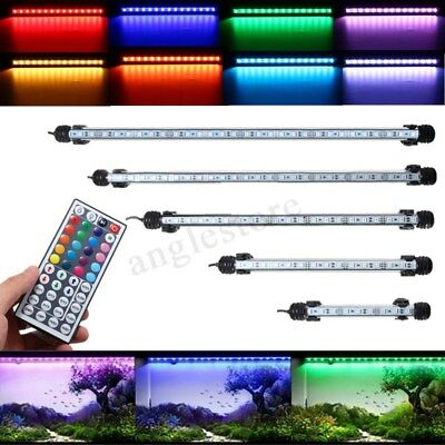 Waterproof Submersible Aquarium Fish Tank RGB LED Light Bar Strip Lamp +