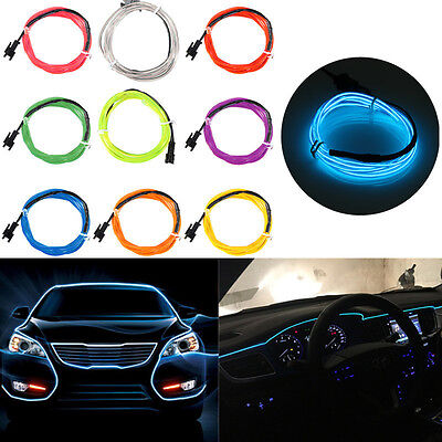 1/2/4/5/8M USB Flexible Neon EL Wire LED Strip Glow Tube Light Lamp Dance
