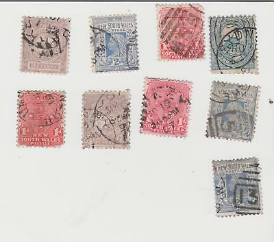 9 New South Wales Stamps