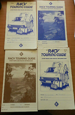 4 x RACV Strip Maps and Route Information Touring Guides from 1980s