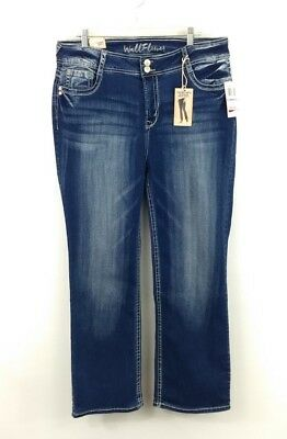 f702189c13ef9 WALLFLOWER LUSCIOUS CURVY Wings   Lace Stretch Bootcut Jeans Sizes16 ...