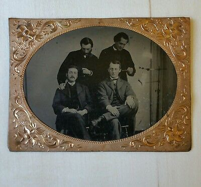 Early 1860s Antique TINTYPE MEDICAL QUACKERY SURGERY EXPERIMENT ODDITY DOCTORS
