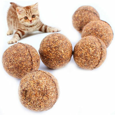 Pet Cat Chew Toys Natural Catnip Healthy Funny Treats Ball For Cats Kitten HS