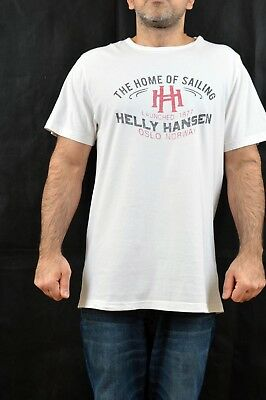 3d191ebd HH HELLY HANSEN OSLO NORWAY The home of SailinG Cream T SHIRT Vtg 90s XXL  SUPER