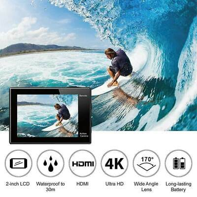 Ultra HD 1080P Action Camera 16MP Sport WiFi Cam DV Waterproof Go Pro + Battery