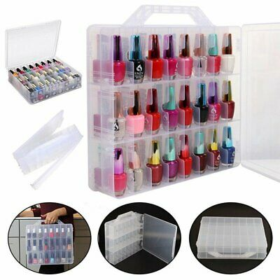 48 Chroma Gel Nail Polish Case Holder Clear Nail Container Case Storage UK