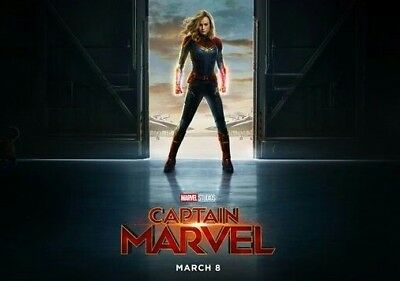 MINT Captain Marvel 27x40 Original Movie Poster DS ENDGAME BRIE LARSON GOOSE