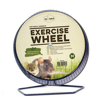 Small Animal Metal Wheel Deluxe Medium for Mice, Rats, Small Rodents ~ 16.5cm