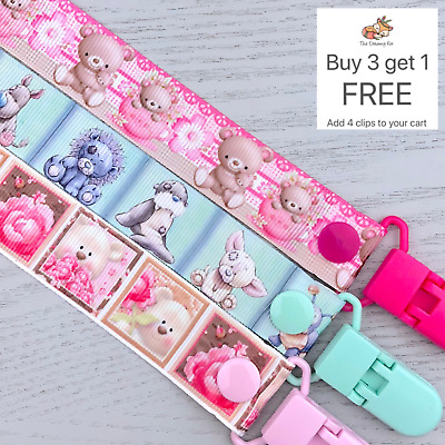 Dummy clip pacifier chain dummie binky baby clips soother holder gift teddies