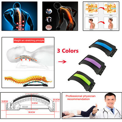 1X ABS Back Magic Stretcher Lower Lumbar Massage Support Spine Posture Corrector