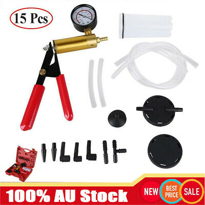 Automotive Vacuum Test and Bleed Kit Hand Held Brake Bleeder Vacuum Pump
