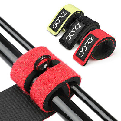 2x Reusable Fishing Rod Tie Strap Stretchy Cable Belt Suspender Fastener Holder