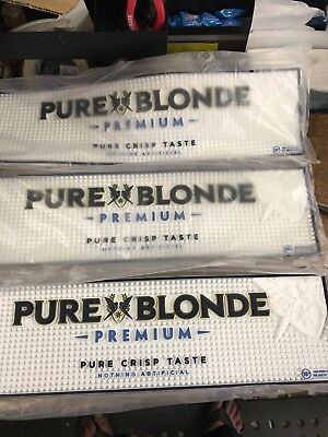 3 Pure Blonde Rubber Bar Mats New P/up Essendon Can Post