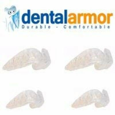 4 Mouth Guard For Grinding Teeth Dental Night Time Sleep Clear Thin Moldable New