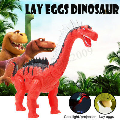 Electric LED Walking Dinosaur Laying Egg Toy Projector with Sound Kids Gift