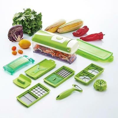 12pcs Slicer Plus Vegetable Fruit Dicer Cutter Chopper Set HOT