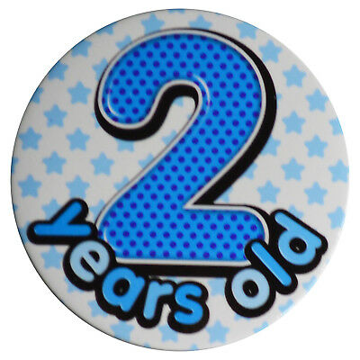 """Badge """"2 years old"""" Boys Age 2 Birthday 2nd Party Wearable"""