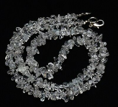 Natural Gem Goshenite Rough 4 to 7MM Size Uncut Chips Beads Necklace 18""