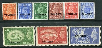 MOROCCO AGENCIES TANGIER-1950-51  An unmounted mint set to 10/- Sg 280-288