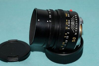 Leica SUMMICRON-M 50mm F2 Lens with maker's box 11826