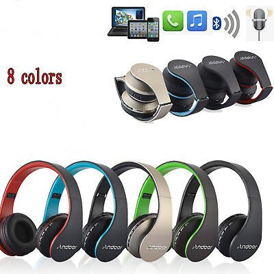 Wireless Bluetooth Headset Stereo BASS MIC Headphone Earphone for SAMSUNG iPhone