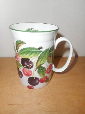 "Roy Kirkham Fine Bone China Mug Fruit Garden ""Cherry"". VGC."