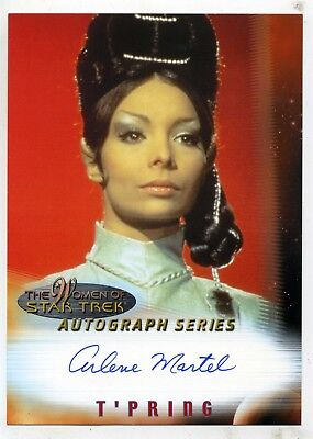 The Women Of Star Trek Autograph Series A3 Arlene Martel