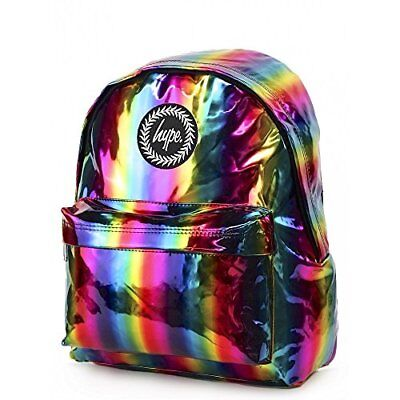 HYPE Rainbow Holographic Backpack Multi Schoolbag BTS18010 Hype bags