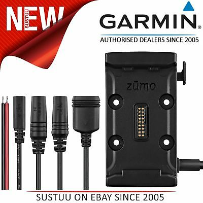 Garmin Motorcycle Mount Bracket Holder+Power Cable│For Zumo 590LM & 595LM│Black