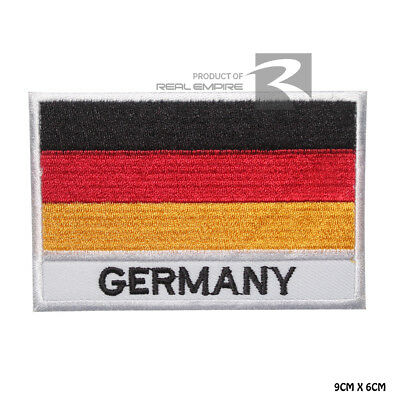 Germany National Flag Iron on Sew on Embroidered Patch Badge For Clothes Etc