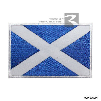 Scotland National Flag Iron on Sew on Embroidered Patch Badge For Clothes Etc
