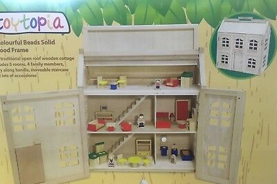 Toytopia Wooden Dolls House With Accessories