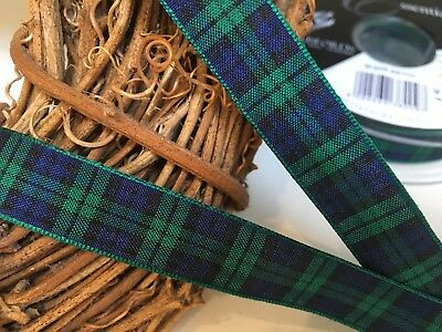 Berisfords 10mm MacGregor Red Polyester Tartan Ribbon  *FREE 1ST CLASS POSTAGE*