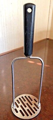 """Vintage Androck 10"""" Stainless Potato Masher Bakelite Handle  Made In USA"""