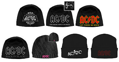 AC/DC Beanie Hat Cap Classic Band Logo back in black Powerage Official New