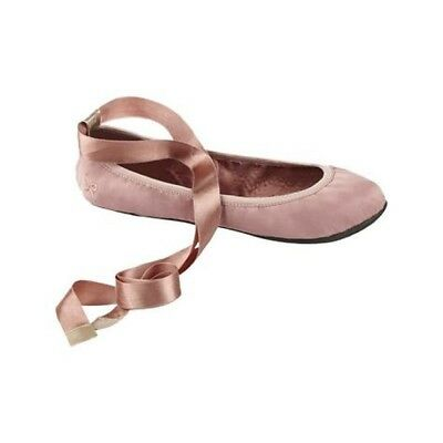 Butterfly Twists Womens Grace Lace Up Foldable Ballet Flats (Nude/Pink, 7)