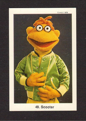 The Muppet Show Jim Henson Vintage 1978 Card from Sweden #49 Scooter
