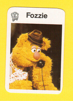 The Muppet Show Jim Henson 1978 German Card Fozzie Bear A