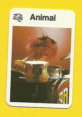 The Muppet Show Jim Henson 1978 German Card Animal Drummer Percussion B