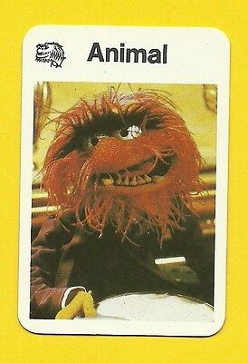 The Muppet Show Jim Henson 1978 German Card Animal Drummer Percussion A