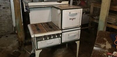 Vintage Antique Gas Stove - Porcelain and cast iron made by RED CROSS I