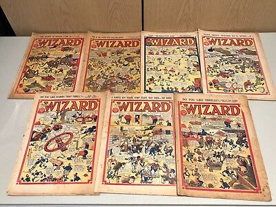 Large Lot (20+) 1940s Comics inc Skipper Hotspur Wizard Rover ++ See Photos