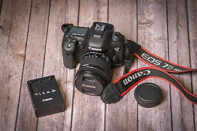 Canon EOS 7D Mark II 20.2MP Digital SLR Camera with 10-18 4.5-5.6 Lens Included!