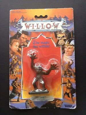 """Vintage Willow """"Troll Evil Creature"""" Figure By Tonka 1988 Lucas film Sealed"""