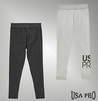 Girls USA Pro Lightweight Everyday Full Length Jersey Leggings 7-13 Yrs