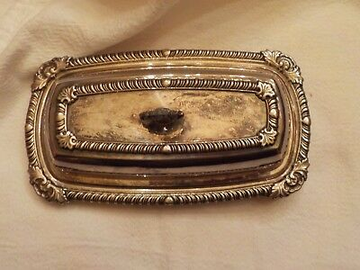 Vintage Silverplate Butter Dish With Glass Insert
